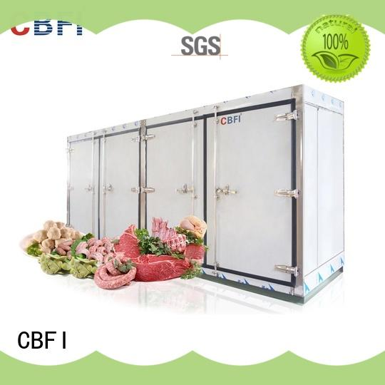 CBFI industry-leading industrial freezer room processing for ice machines