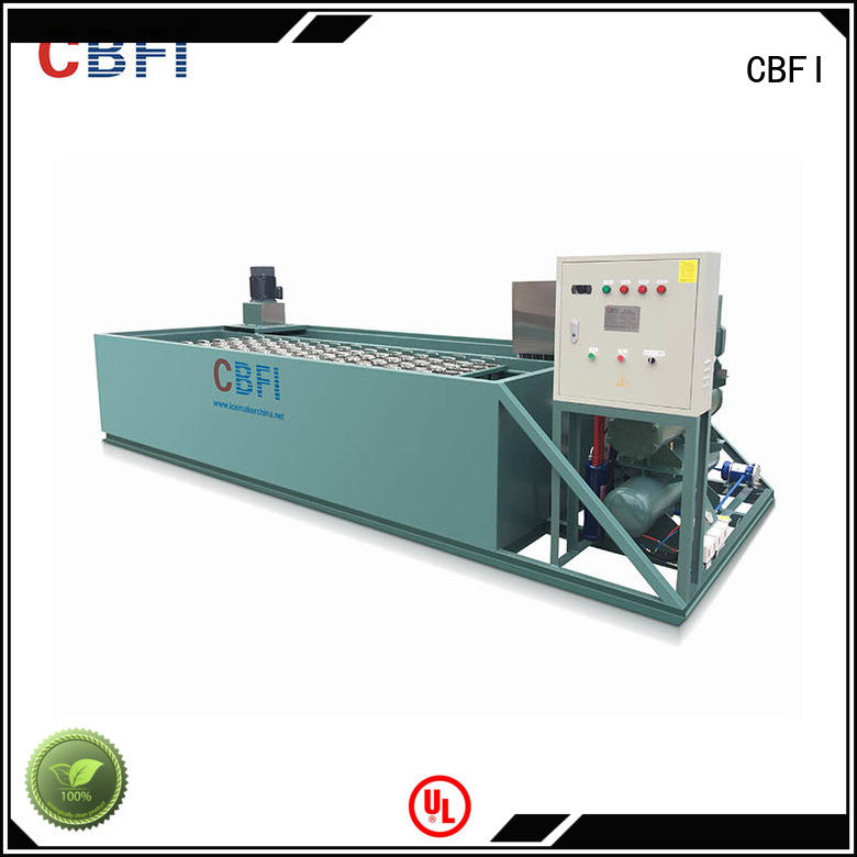 CBFI coil ice block machine bulk production for fresh seafood