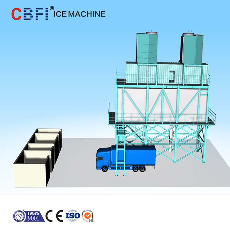 CBFI-CBFI BF20000 20 Tons Per Day Flake Ice Machine For Concrete Cooling-1