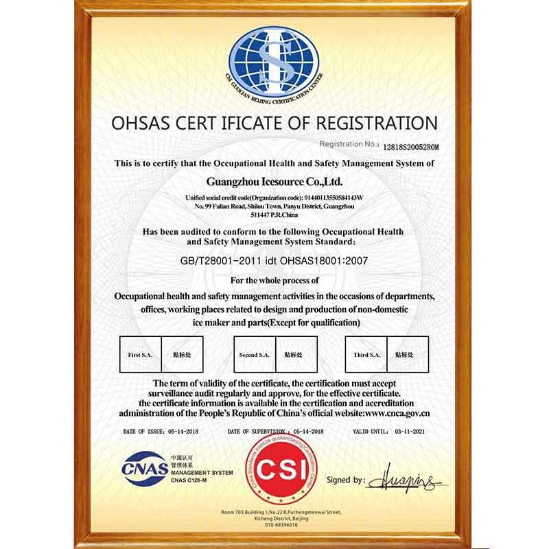 ISO18001 Occupational Health & Safety Management System