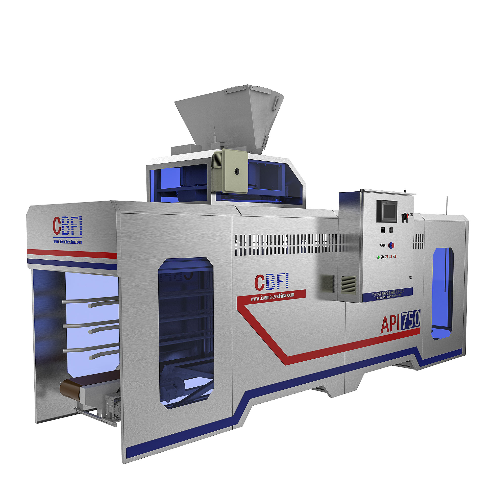CBFI-Large Cube Ice Maker | Cbfi Cv10000 10 Tons Per Day Cube Ice Maker With-7