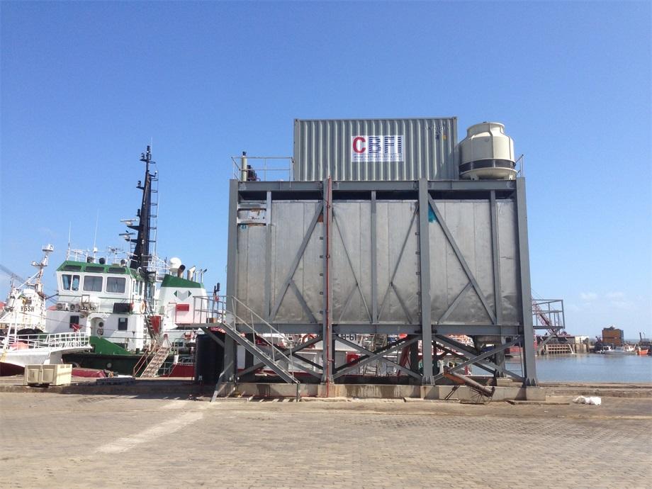 نظام ثلج شرائح أوتوماتيكي 40 طن يوميًا ، موزمبيق