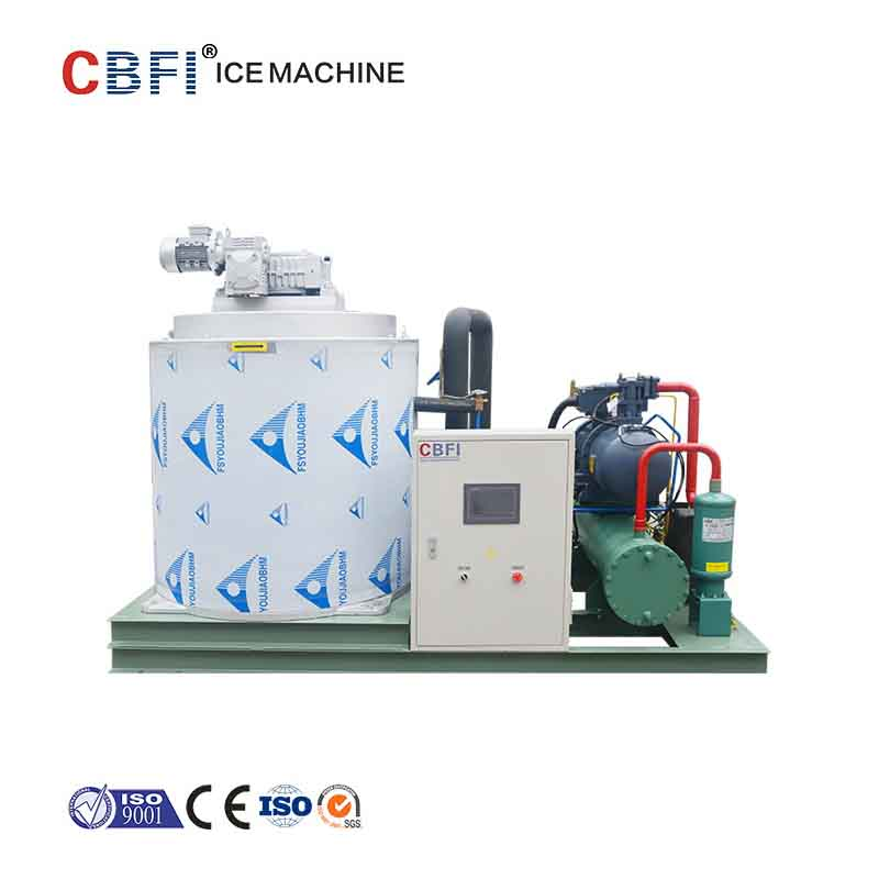 CBFI high-quality flake ice making machine free design for supermarket-16