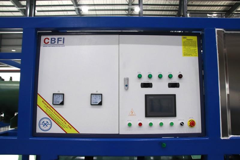 CBFI reliable direct cooling block ice machine manufacturer for fruit storage
