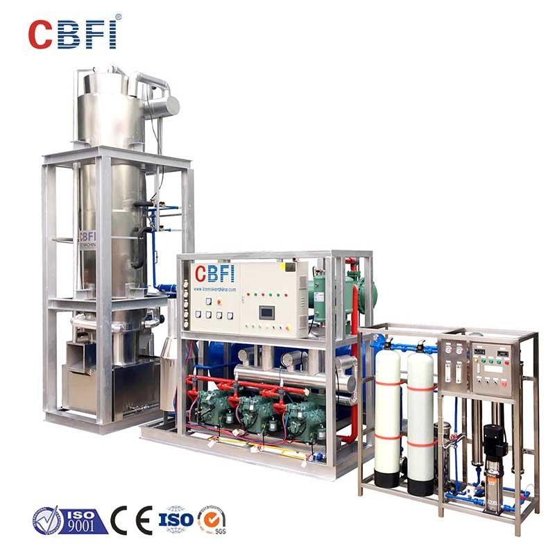 CBFI tube ice maker machine philippines export for beverage cooling