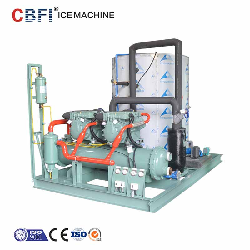CBFI seawater industrial flake ice machine bulk production for food stores-14