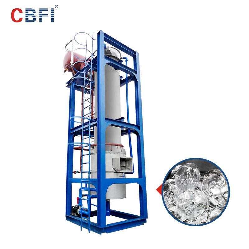 Máquina de hielo en tubo con sistema de amoníaco