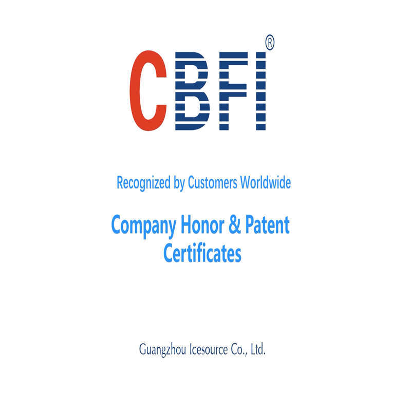 CBFI Company Honor & Patent Certificates