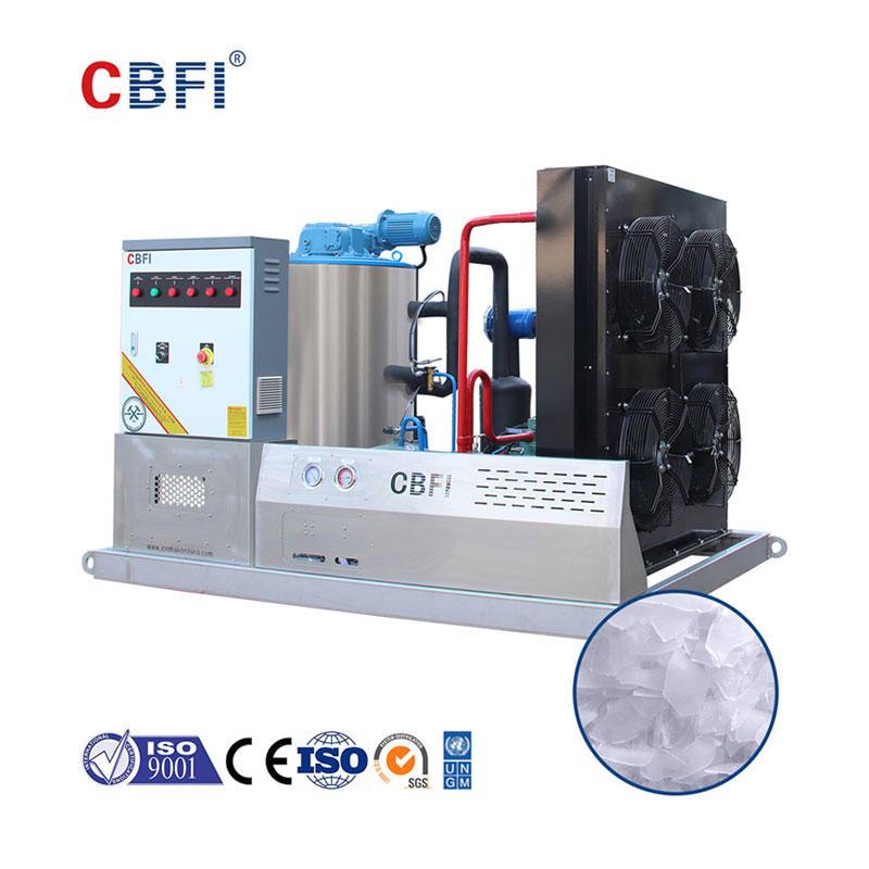 CBFI BF3000 Su Ürünleri İçin Günde 3 Ton Yaprak Buz Yapma Makinesi