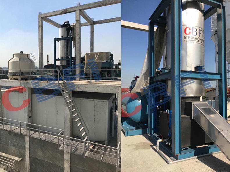 2Set of 30tons Tube Ice Machine Plant and Ice Cold Storage, Philippines