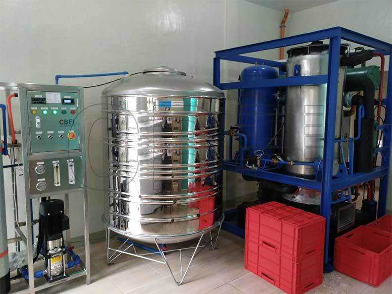 5tons Tube ice machine Philippines for Starting Ice Business