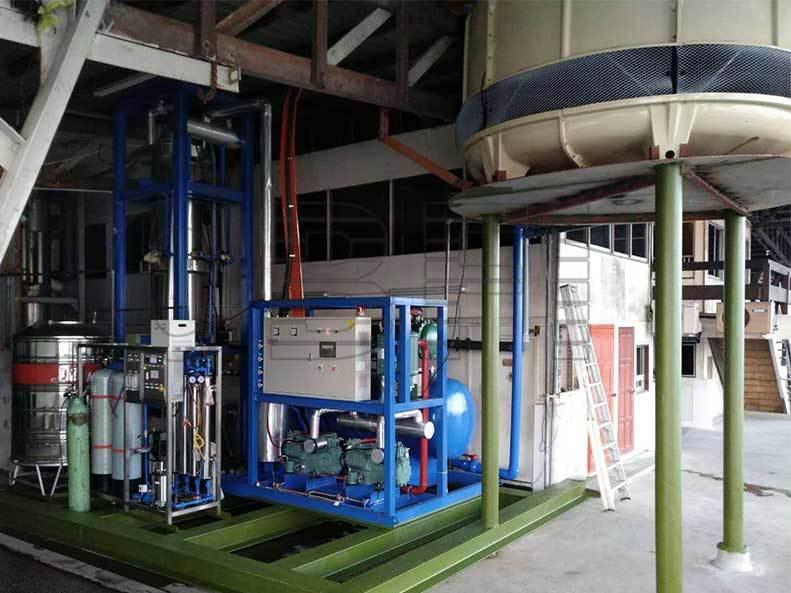 Maszyna do lodu 20tons Tube, Malezja