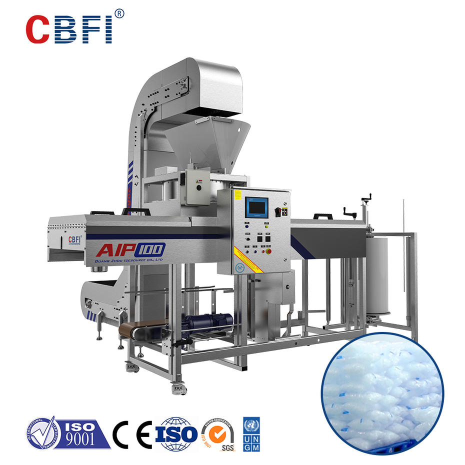 HEYTEA Ice Cube Quality Inspection and Automatic Ice Packing Machine