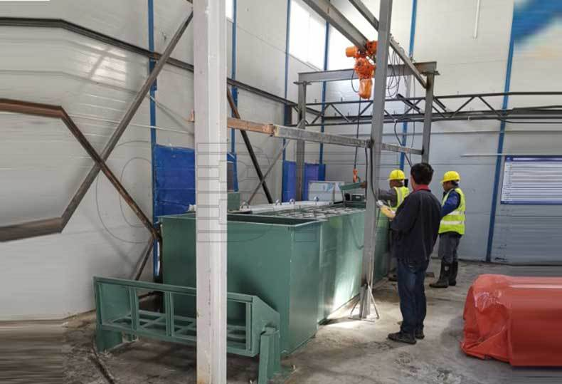 3 Tons Ice Block Machine for Bayu Tunnel Entrance Project