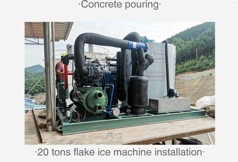 20Tons Ice Flake Machine for Yongzhou Maojun Reservoir