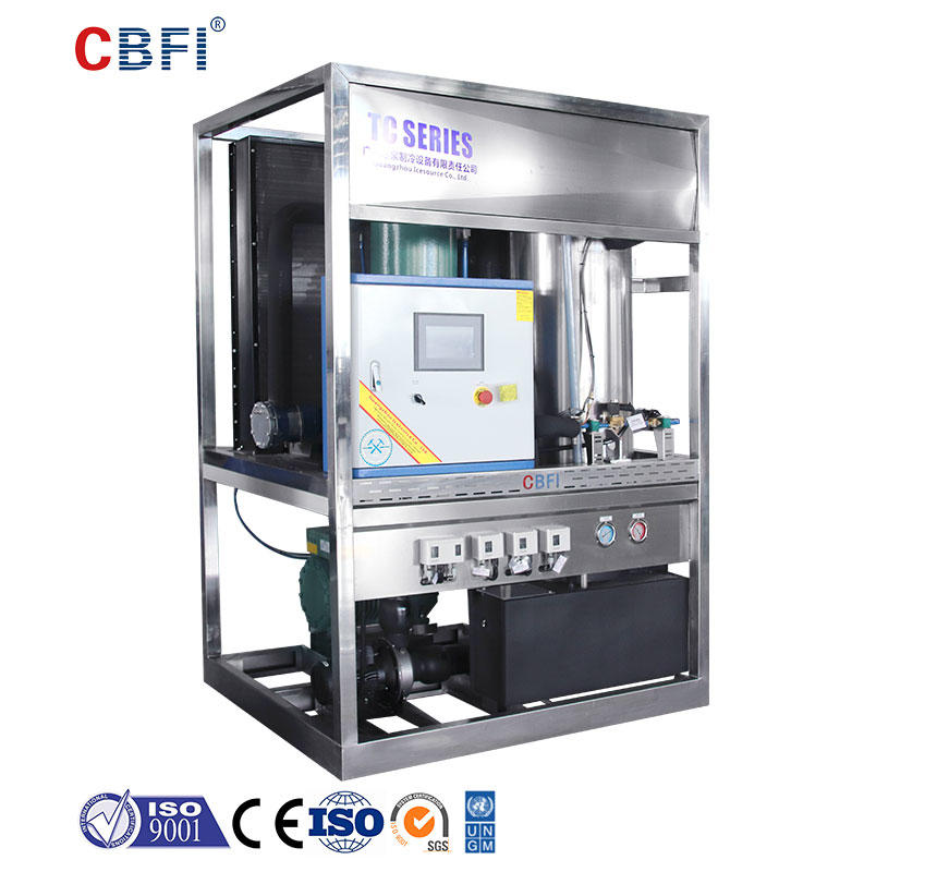 CBFI durable tube ice machine for sale bulk production for ice sculpture
