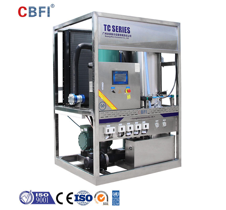 CBFI TV30 3 Tons Per Day Ice Tube Maker For Edible Usage