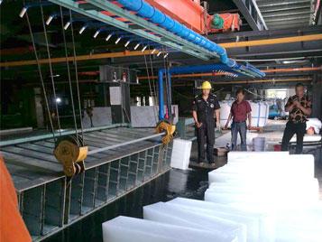 The case of Yunnan Ruili Daqing 100tons Salt Water Ice Block Factory