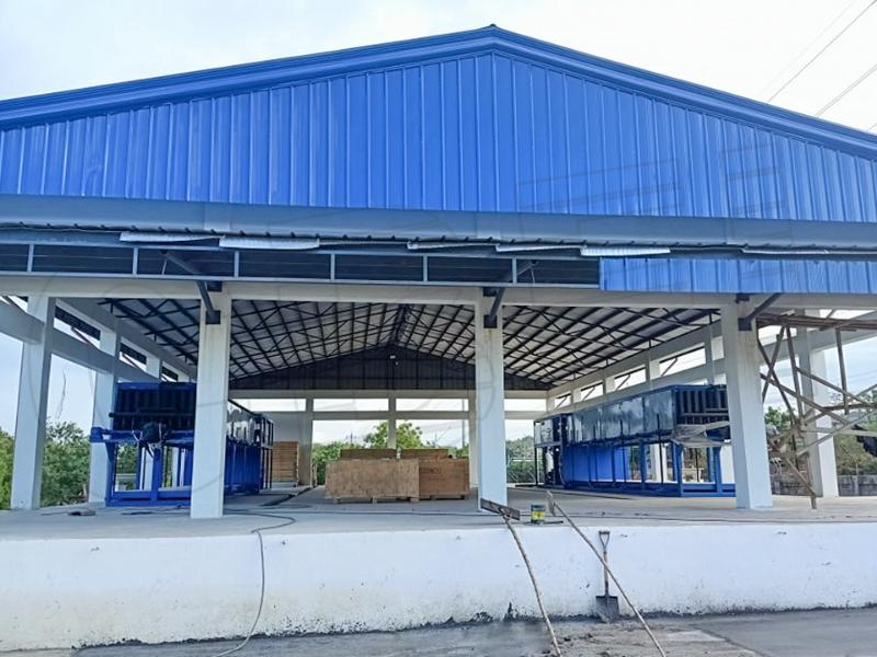 15 tons automatic block ice machine and 150 CBM ice storage in Philippines