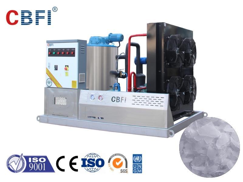 The principle of ice making of flake ice machine