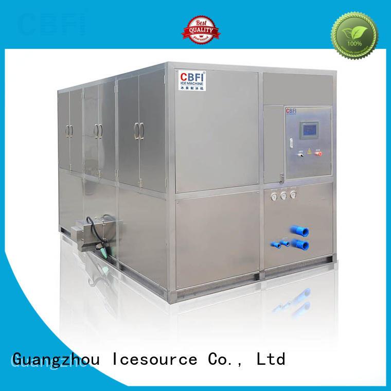 CBFI ton industrial ice cube making machine manufacturer for fruit storage