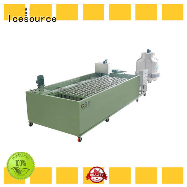 CBFI pipes industrial ice block machine long-term-use for crushing ice