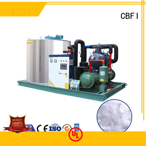 CBFI durable flake ice machine commercial free design for supermarket
