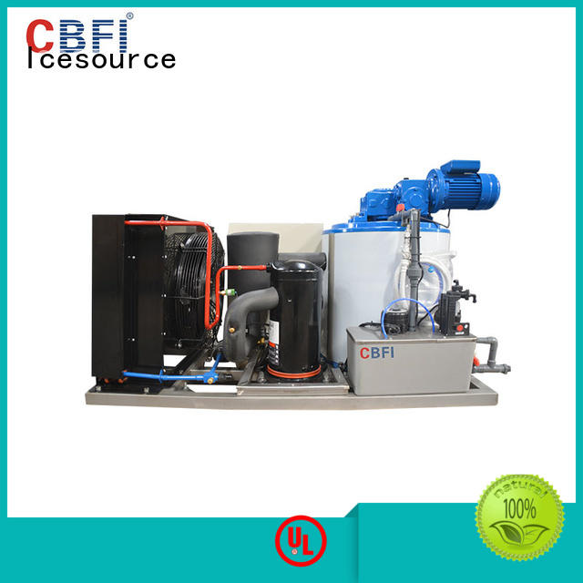 CBFI seawater industrial flake ice machine free quote for water pretreatment