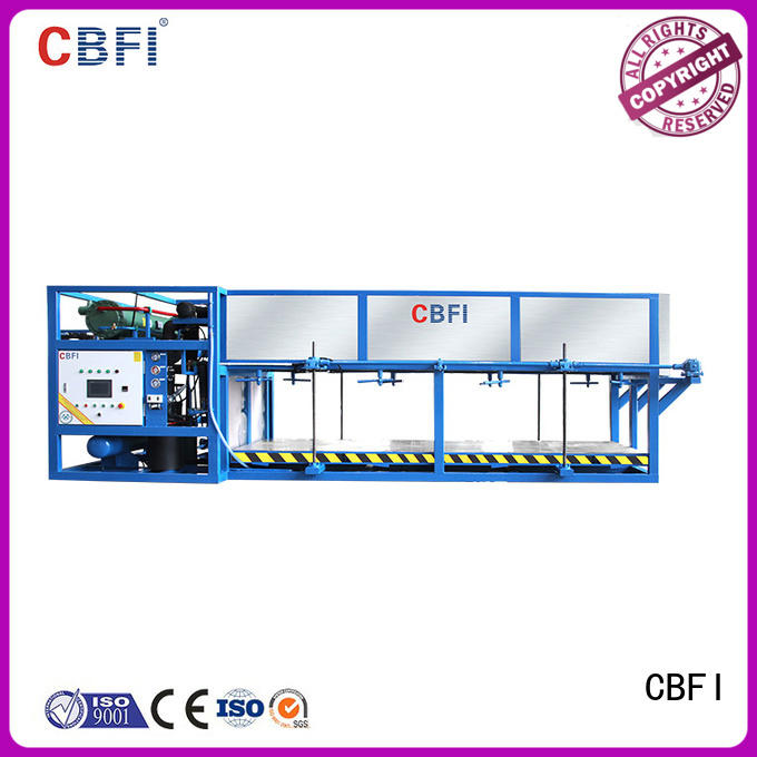 CBFI widely used direct cooling block ice machine order now for fruit storage