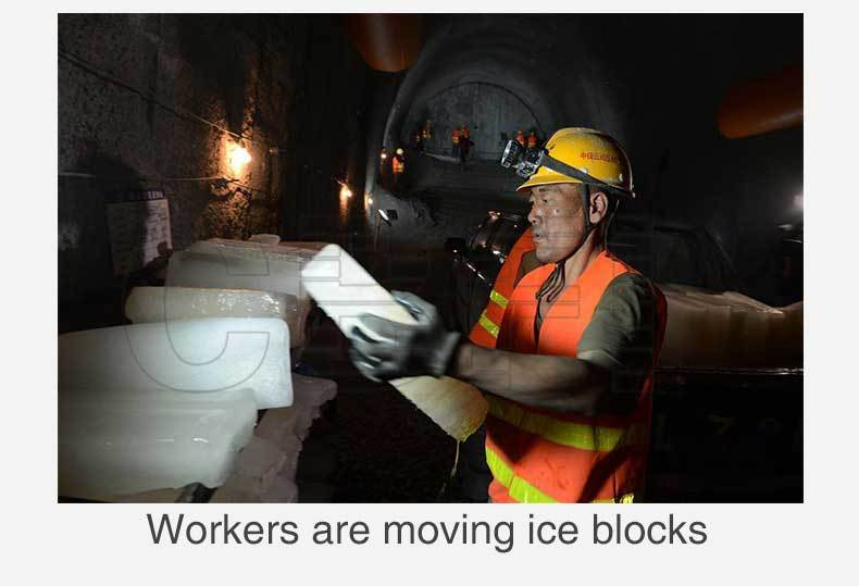 5 Tons Ice Block Machine for Lagang Tunnel Project