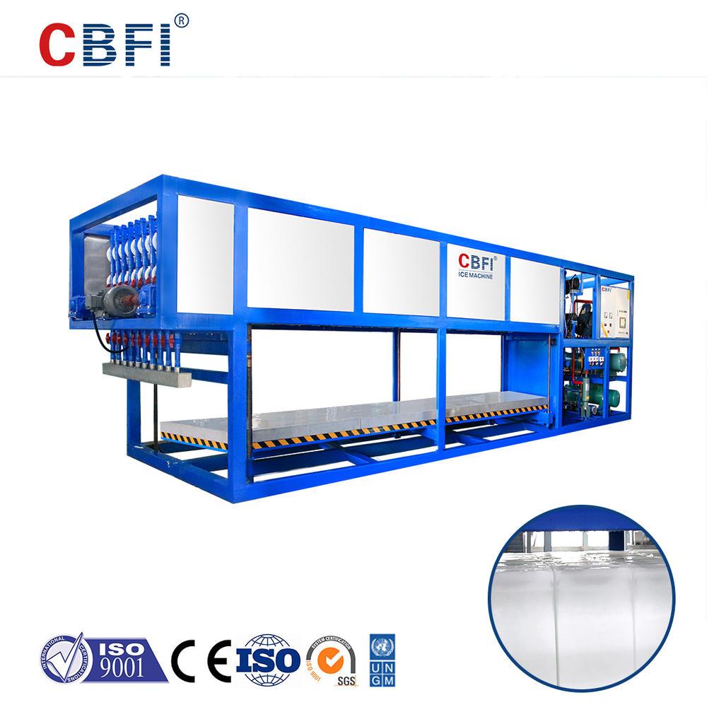 آلة تصنيع قوالب الثلج بالتبريد المباشر CBFI ABI100 10 طن يوميًا