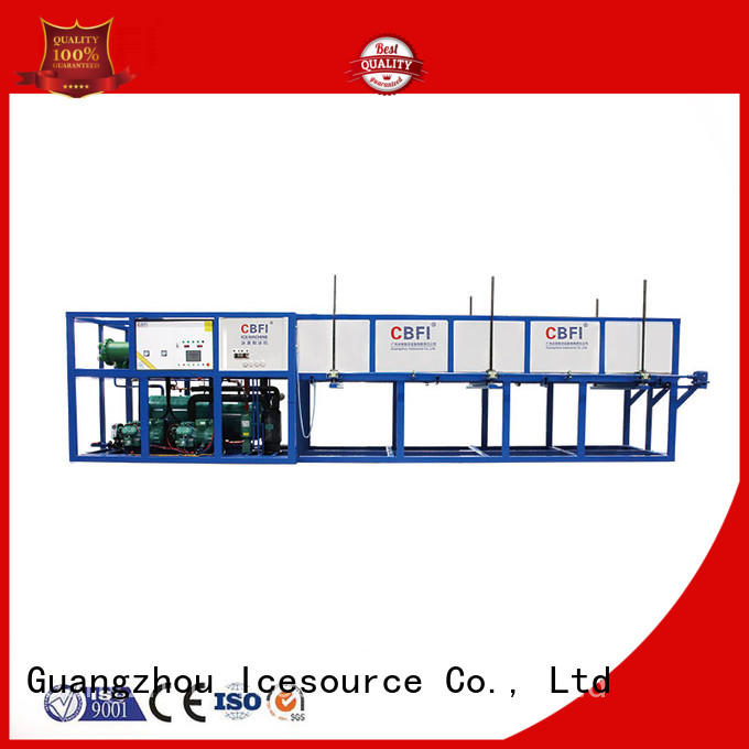 CBFI widely used direct cooling block ice machine free design for vegetable storage