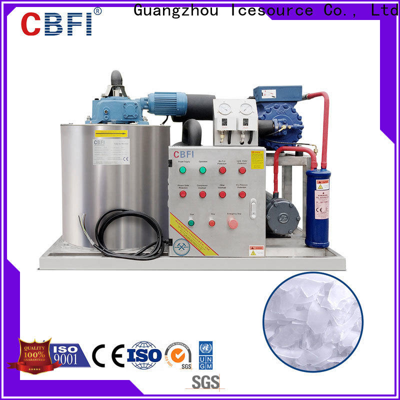 CBFI inexpensive flake ice making machine price certifications for cooling use