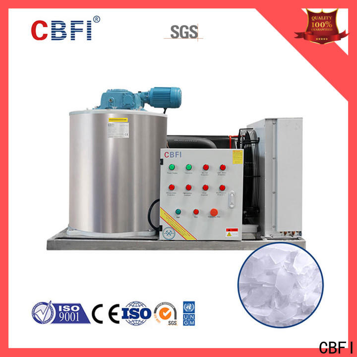 CBFI goods flake ice plant certifications for water pretreatment