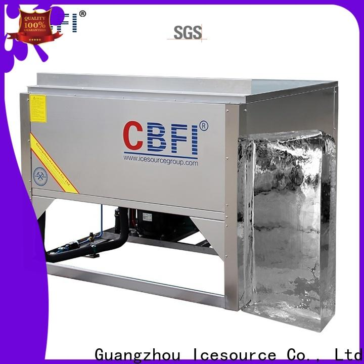 CBFI sculpture tube ice manufacturing order now for ice sphere