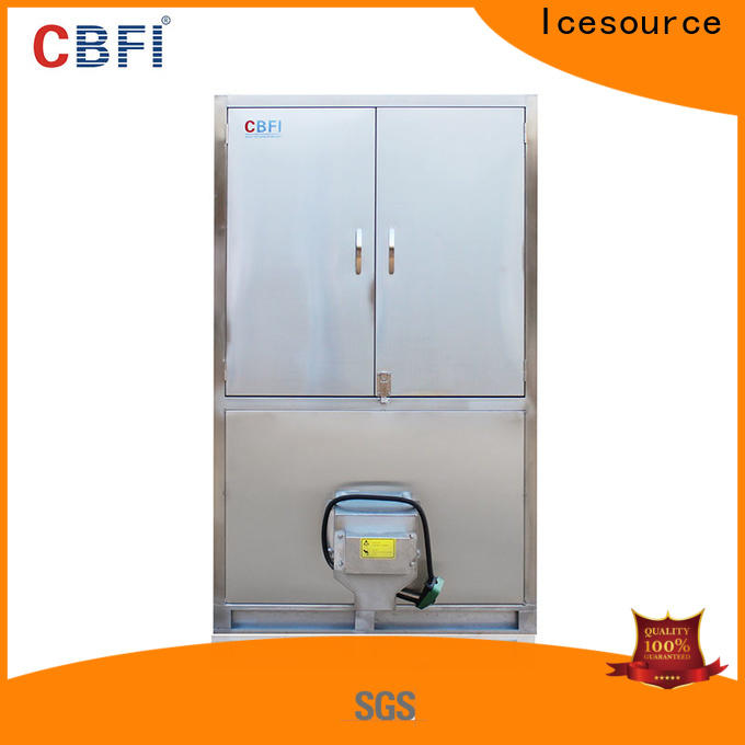 CBFI widely used industrial ice cube making machine supplier for vegetable storage