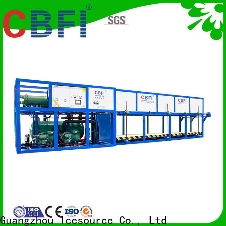CBFI large capacity bottled water ice maker for vegetable storage