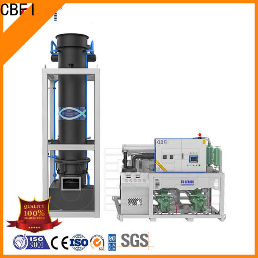 CBFI durable tube ice machine for sale bulk production for aquatic goods