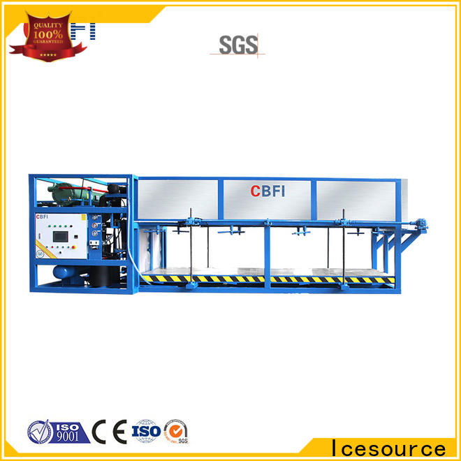 reliable direct cooling block ice machine block free design for fruit storage