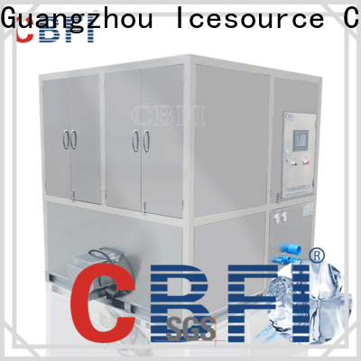 CBFI high-tech square cube ice maker plant plant
